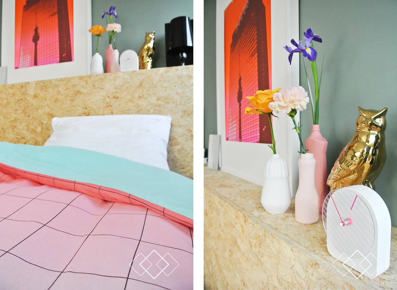 Slaapkamer goedkoop decoreren interieur meubilair idee n - Decoratie volwassen kamer romantisch ...