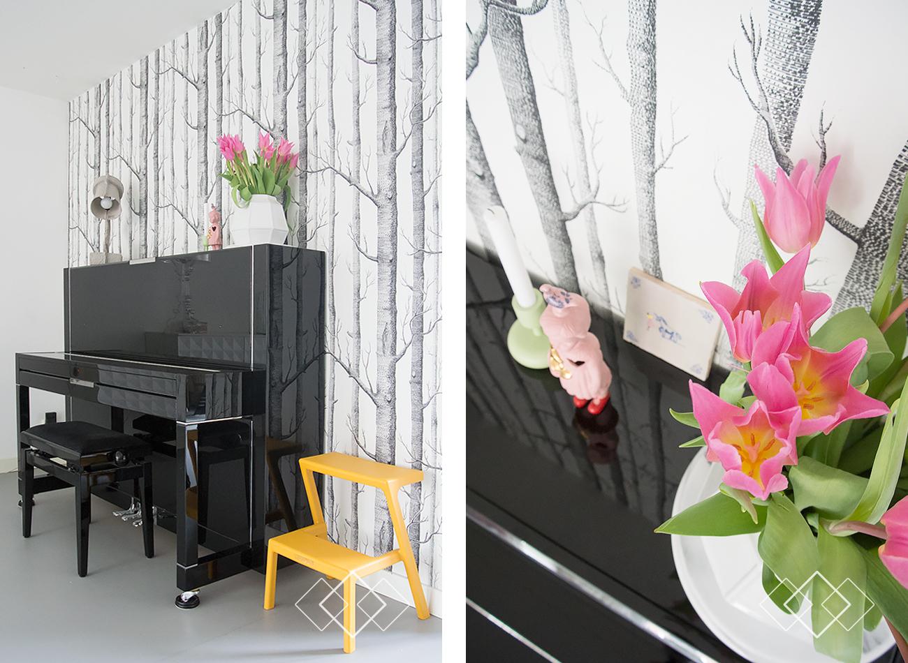 Tulpen op de piano